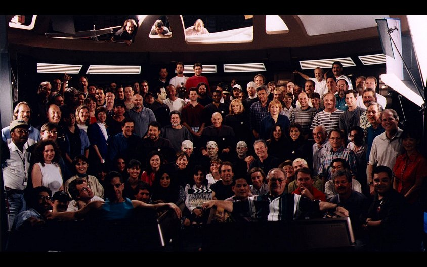 "Daily Pic # 148, ""First Contact"" Cast & Crew"