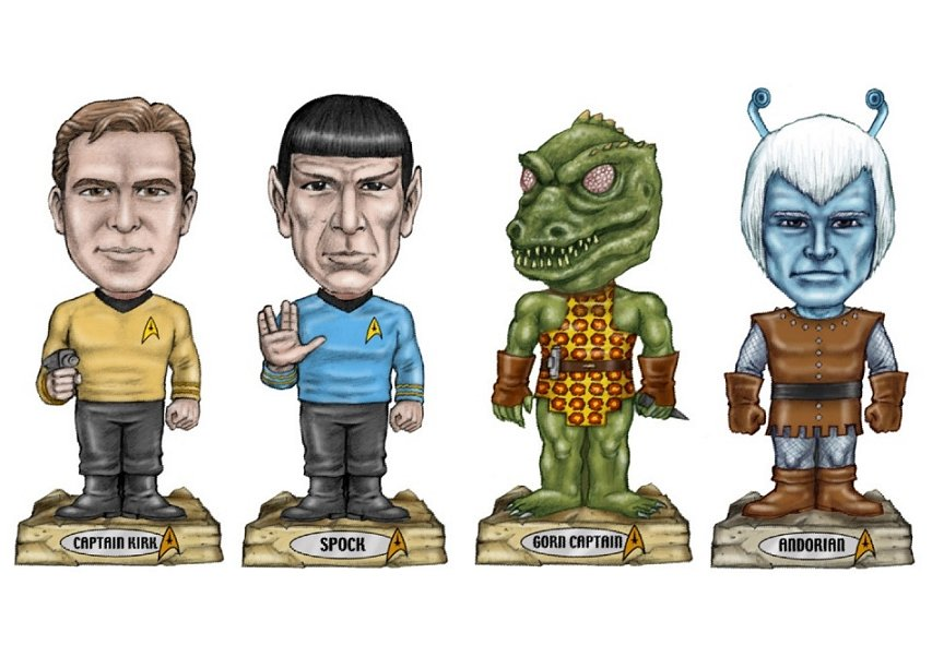Daily Pic # 292, Trek Bobble Heads