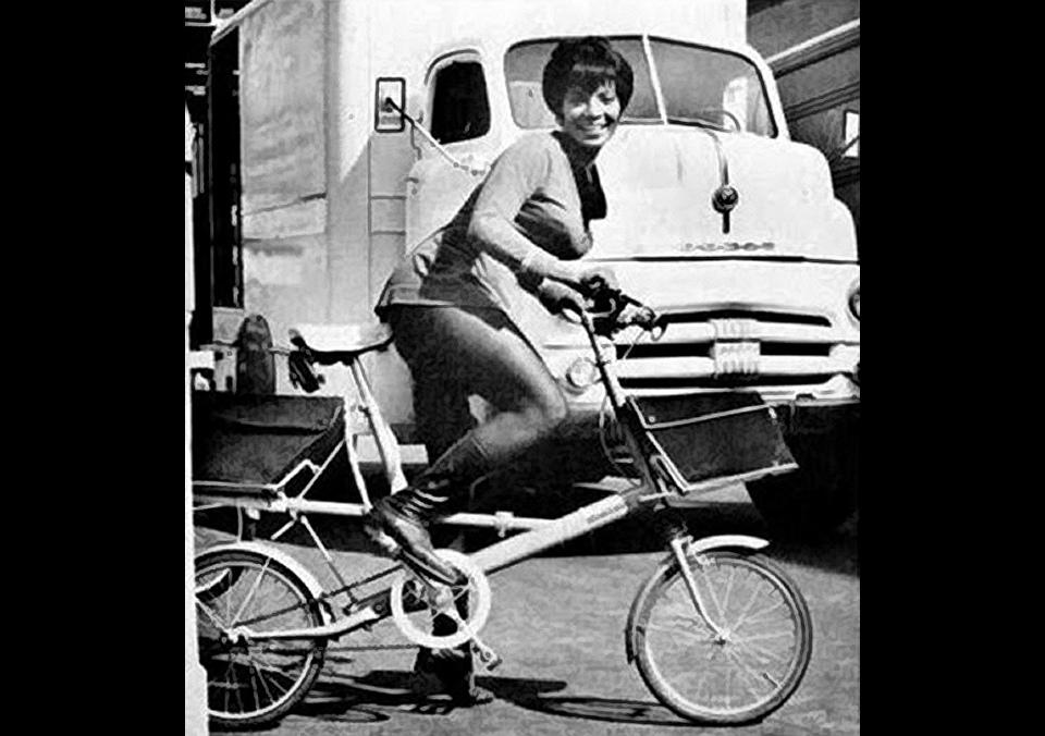 Daily Pic # 683, Nichelle on bike